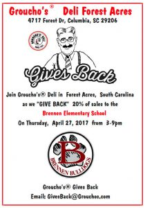 Groucho's Spirit Night – April 27th