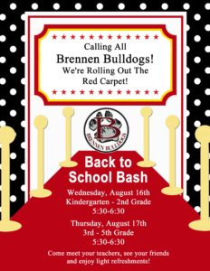 2017 Back to School Bash Details